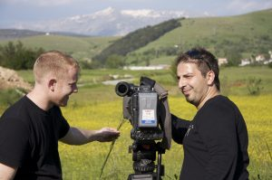 Filming P Z Cussons '125' corporate video in Greece