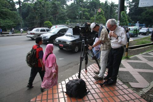 Filming P Z Cussons '125' in Jakarta, Indonesia