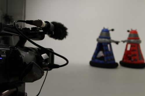 Filming Kids at Play Ride-on Daleks toy commercial