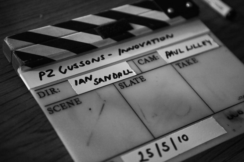 Clapperboard for P Z Cussons training video shoot
