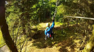 Aerial adventure course at Crieff Hydro Hotel