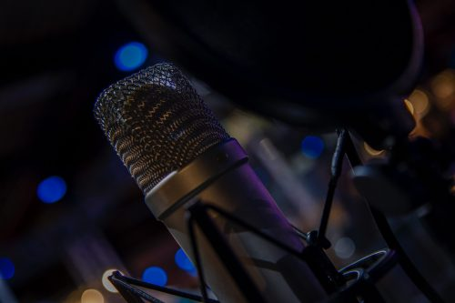 A professional microphone for voice over or music recording