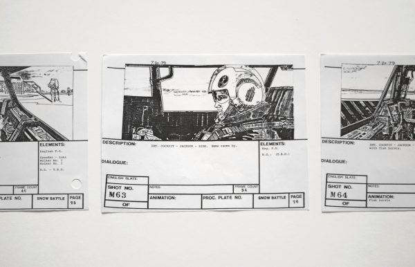 Detail of a storyboard