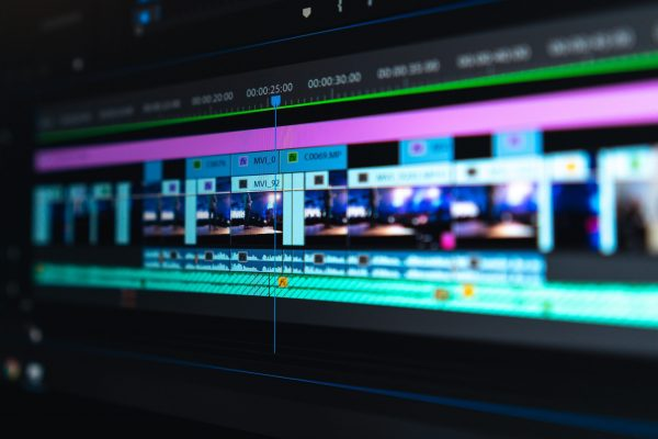 Video editing - close up of timeline