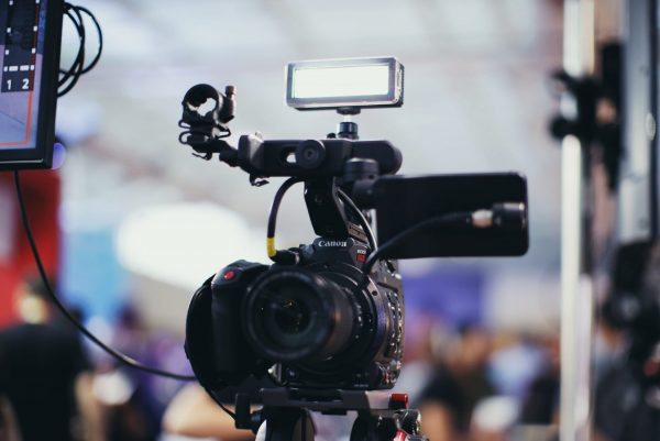 A Canon video camera