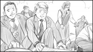 schoolchildren illsutration from a storyboard